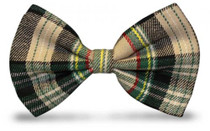 Golf Knickers: Men's 'Par 5' Cotton/Ramine Plaid Bowtie
