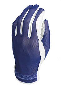 Evertan Women's Tan Through Golf Glove: Cool Blue