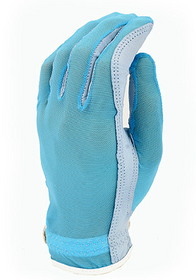 Evertan Women's Tan Through Golf Glove: Fantasia Blue