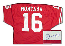 JOE MONTANA Signed Authentic San Francisco 49ers Jersey- JM-AJ4R