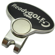 ReadyGolf - 3D Gold & Black Lizard Ball Marker & Hat Clip with Crystals