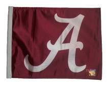 Alabama Crimson A 11in x 15in Golf Cart or Car Flag