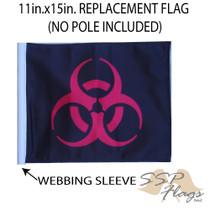 """Golf Cart Flags - BIOHAZARD RED 11""""x15"""" Replacement Flag"""