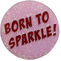 ReadyGOLF - Born To Sparkle Golf Ball Marker & Hat Clip