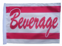 """Golf Cart Flags - BEVERAGE 11""""x15"""" Replacement Flag"""