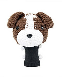 Amimono Animal Golf Driver Headcover - Dark Brown JRussell Terrier Dog (D012-B)