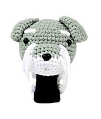 Amimono Animal Golf Driver Headcover - Grey Schanuzer Dog (D017-A)
