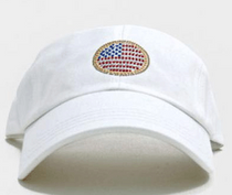 Dolly Mama Ladies Baseball Hat - Circle Flag on White