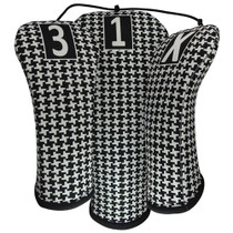 BeeJo's: Golf Headcover -  Classic Hounds-Tooth Print Golf