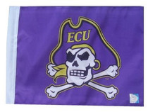 East Carolina ECU Pirates 11in x 15in Golf Cart or Car Flag