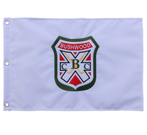 CaddyShack Embroidered Golf Pin Flag with Bushwood Country Club Crest