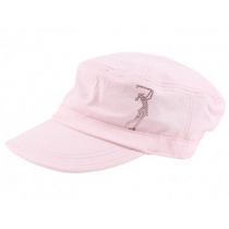 Dolly Mama Ladies Fidel Military Cap - Golf Girl on Pink