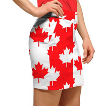 Loudmouth Golf Womens Skort - Canada Maple Leaf