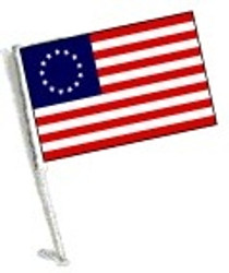 Car Flag with Pole - Betsy Ross