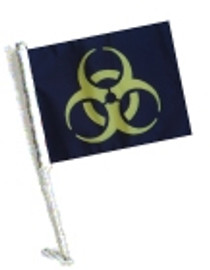Car Flag with Pole - BIOHAZARD YELLOW