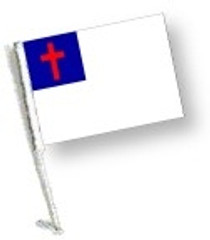 Car Flag with Pole - CHRISTIAN
