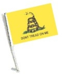 Car Flag with Pole - DON'T TREAD ON ME
