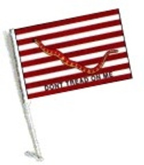 Car Flag with Pole - FIRST NAVY JACK