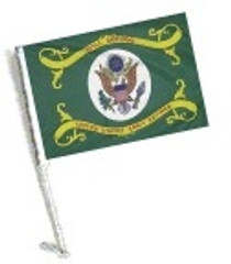 Car Flag with Pole - RETIRED ARMY
