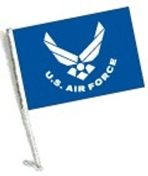 Car Flag with Pole - LICENSED U.S. AIR FORCE
