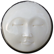 ReadyGolf - Buffalo Bone Carved Moon Face Ball Marker