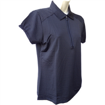 Nancy Lopez Golf Ladies Short Sleeve Polo - Flare - Black - Medium - SALE