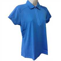 Nancy Lopez Golf Ladies Short Sleeve Polo - Flare - Blue - Medium - SALE