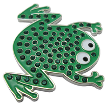 ReadyGolf - Frog Ball Marker & Hat Clip with Crystals