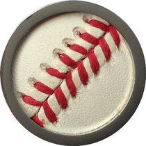 ReadyGolf - Baseball Leather Inlay Ball Marker - Game Used