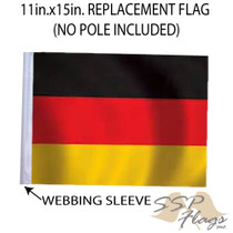 """Golf Cart Flags - GERMANY 11""""x15"""" Replacement Flag"""