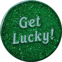 ReadyGolf - Get Lucky / Four Leaf Clover Shamrock  2-Sided Ball Marker