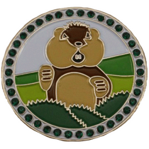 Caddyshack Golf Ball Marker & Hat Clip - Dancing Gopher with Crystals