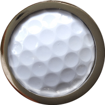 ReadyGolf - Golf Ball Skins Ball Marker & Hat Clip - White