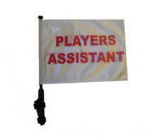 PLAYERS ASSISTANT 11x15 inch Golf Cart Flag with Pole