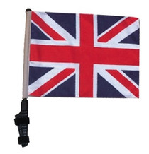 UNION JACK 11x15 inch Golf Cart Flag with Pole