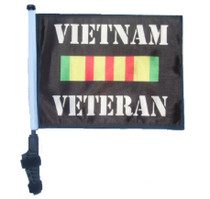 VIETNAM VETERAN 11x15 inch Golf Cart Flag with Pole