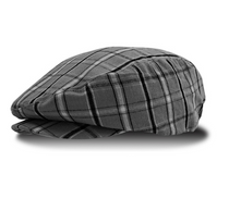 Golf Knickers: Charcoal Limited Edition Men's Plaid Golf Knickers & Cap