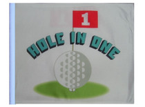 """Golf Cart Flags - HOLE IN ONE 11""""x15"""" Replacement Flag"""