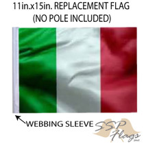 """Golf Cart Flags - ITALY 11""""x15"""" Replacement Flag"""