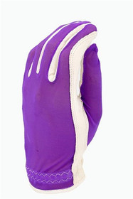Evertan Women's Tan Through Golf Glove: Grape