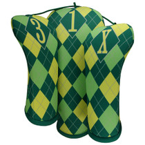 BeeJo's: Golf Headcover - Lemon Quench Argyle
