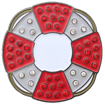 ReadyGolf - Lifesaver with Crystals Ball Marker & Hat Clip