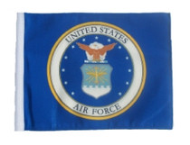 "Golf Cart Flags - Licensed Air Force Coat of Arms 6""x9"" Replacement Flag"