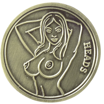 ReadyGolf - Naked Lady Heads or Tails Flip Coin Ball Marker & Hat Clip