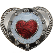 Navika: Kicks Candy - Shoe Ball Marker Holder - Round Red Heart