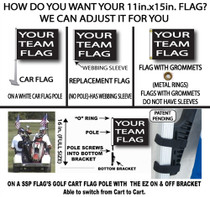 NFL New York Giants 11in x 15in Golf Cart or Car Flag