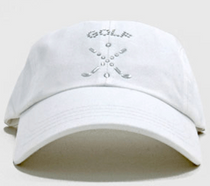 Dolly Mama Ladies Baseball Hat - Golf Emblem on White