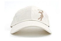 Dolly Mama Ladies Baseball Hat - Golf Girl on Stone