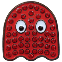 ReadyGolf - Arcade Red Ghost Ball Marker with Crystals