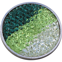 ReadyGolf - Rhinestone Crystal Ball Marker - Green, Lime & White